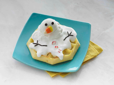 Melted Snowman.  (PRNewsFoto/Kellogg Company)