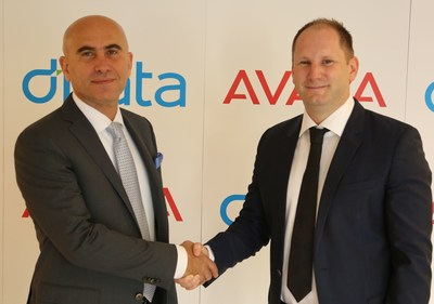 L-R: Nidal Abou-ltaif, President, Avaya International, and Paul Gale, Vice President Global Contact Centres, dnata (PRNewsFoto/AVAYA)