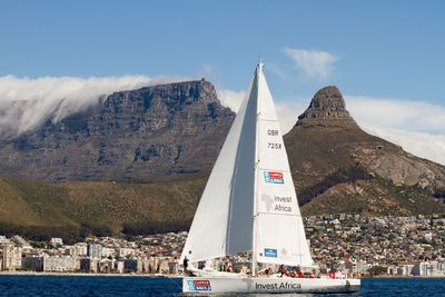 African yacht secures podium place into Cape Town on world's longest ocean race (PRNewsFoto/CLIPPER VENTURES PLC)