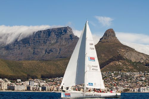 African yacht secures podium place into Cape Town on world's longest ocean race (PRNewsFoto/CLIPPER VENTURES ...