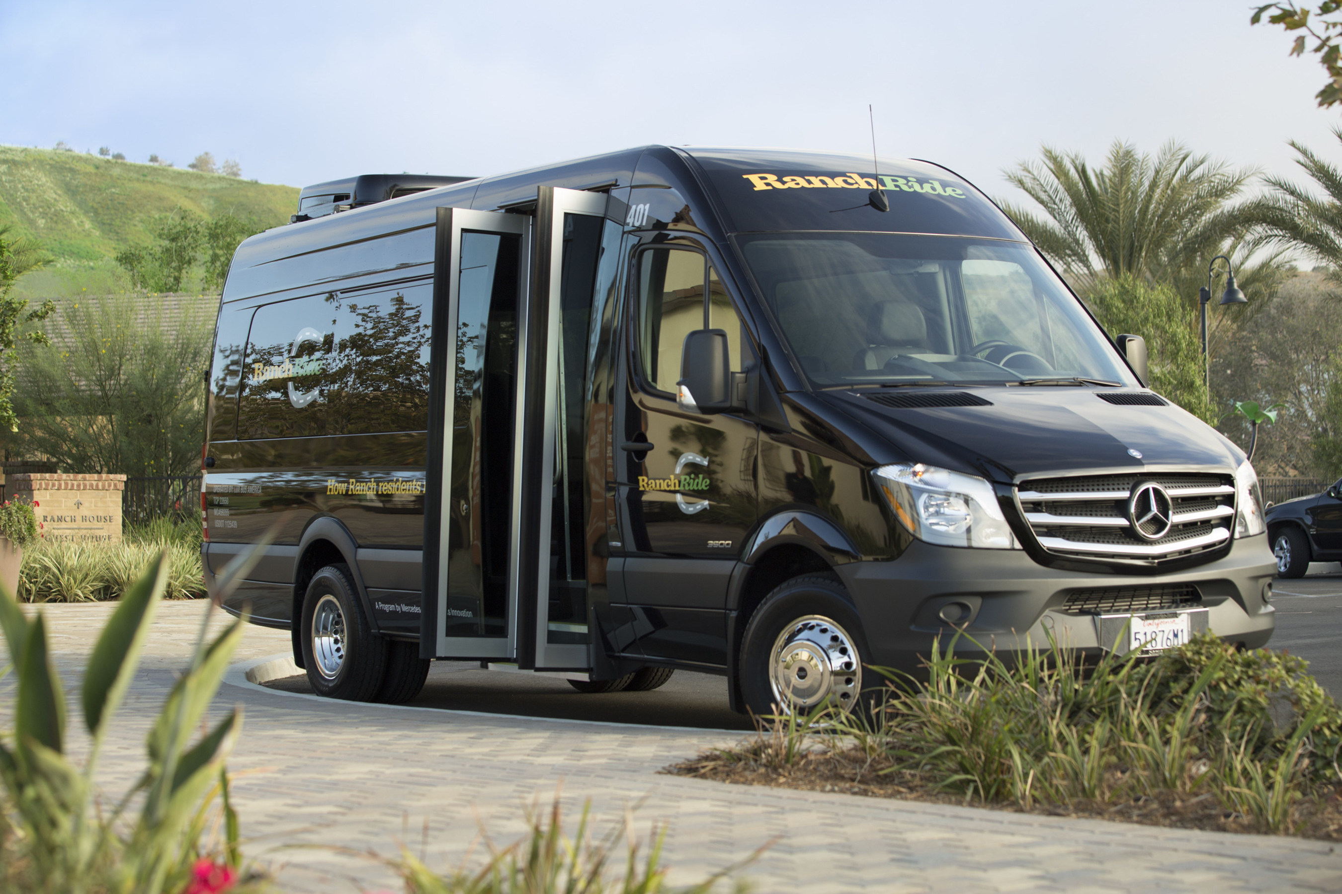 Mercedes benz and rancho mission viejo launch ranchride to for Mercedes benz mission viejo