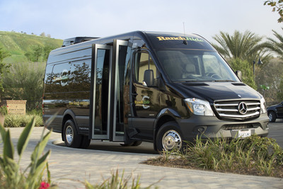 Luxury-style, 14-seat Mercedes-Benz Sprinter passenger shuttles are being used for the new RanchRide mobility services.