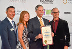 Los Angeles Youth Network CEO, Mark Supper and Councilman Mitch O'Farrell, present Key of Hope Award recipient, John DeFazio, of Heffernan Insurance Brokers and his wife, Donna DeFazio with a proclamation, during the 2016 Key of Hope Gala - Unlocking the Possibilities for Our Homeless and Foster Youth.