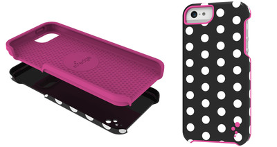 M-Edge's cases offer personalization and protection to match any color phone and any personal style. Bestselling case styles offered for the iPhone 5C and 5S include the Echo and Snap. With a two-layer design and brightly colored prints, the Echo is must-have protection and style. Simple but elegant, the Snap Case is ultra-thin and showcases classic M-Edge patterns as well as Trina Turk's southern California-inspired graphic prints. The cases range in price from $20 to $35. (PRNewsFoto/M-Edge)
