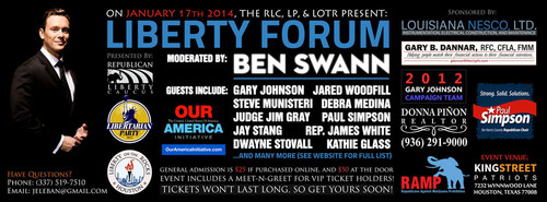 Liberty Forum, moderated by two-time Emmy award-winning journalist Ben Swann to be held in Houston, TX on ...