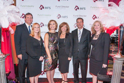 "Representatives from MassMutual were on hand to accept the ""Deal of the Year"" and ""Ad Campaign of the Year"" Awards at the 20th Annual Mutual Fund Industry Awards on April 25. Shown l to r: William Silvanic, Heather Smiley, Elaine Sarsynski, Lisa Reilly, Darrin Tulley, Tina Wilson.  (PRNewsFoto/MassMutual Retirement Services)"
