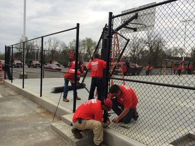 Rio Grande Fence Co. of Nashville at 2015 Good Friday Service Project