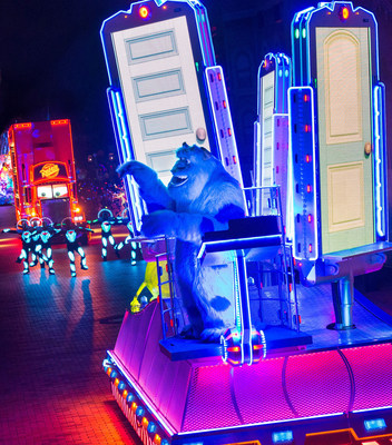 SULLEY ON THE SCARE FLOOR IN 'PAINT THE NIGHT' Parade - Sulley from 'Monsters, Inc.' brings guests into the world of Monstropolis in this all-new new after-dark spectacular at Disneyland park inspired by the iconic 'Main Street Electrical Parade.' Celebrating 60 years of magic, 'Paint the Night' is one of three new nighttime spectaculars which will immerse guests in the worlds of Disney stories like never before. The Diamond Celebration at the Disneyland Resort begins Friday, May 22, 2015.
