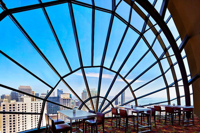 The View, the San Francisco rooftop restaurant at the San Francisco Marriott Marquis, is hosting a chic party to welcome in the New Year and celebrate the hotel's 25th anniversary. The party will be held from 9 p.m. to 1 a.m. Tuesday, Dec. 31, 2013. Tickets for aisle seats are $250, and window seats are $295 per person.  For information, visit www.marriott.com/SFODT or call 1-415-896-1600.  (PRNewsFoto/San Francisco Marriott Marquis)