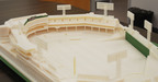 Objet 3D Printed Fenway Park, with views of Green Monster and Pesky's Pole.  (PRNewsFoto/Objet Ltd.)