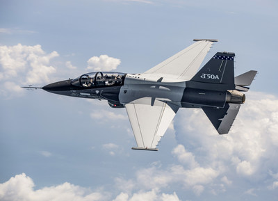 Lockheed Martin's T-50A pictured during the initial flight of the second T-50A configured aircraft.