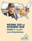 ICMA-RC is proud to participate in National Save for Retirement Week, an effort taking place October 16-22 in cities and states across the U.S. to encourage employees to achieve their personal retirement goals.  ICMA-RC has been a proud supporter of National Save for Retirement Week since its inception in 2006.  (PRNewsFoto/ICMA-RC)