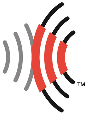 The RFID Consortium logo consists of two sets of opposing concentric curves using three colors: red, grey and black. The logo's concentric curves suggest the radio signal transmission and backscattered response signal used in radio frequency identification (RFID).  (PRNewsFoto/Sisvel)