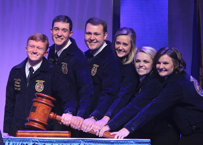On Saturday, Nov. 1, the new 2014-2015 National FFA Officer team was elected at the 87th National FFA Convention & Expo. More than 64,000 attended the student convention held in Louisville, Ky.