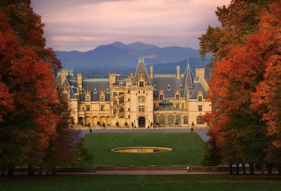 Get close to fall color at Biltmore in Asheville, NC. Crisp and cool, autumn is a great time to see George Vanderbilt's estate.