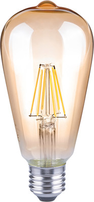 World's first dimmable LED filament Edison bulb by Lux and Lattice Power.
