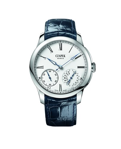 Czapek, Quai des Bergues N.29 in White gold and enamel Grand Feu with Blued steel Hands. (PRNewsFoto/Czapek & ...