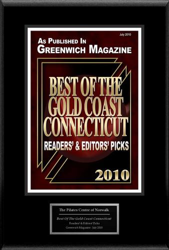 "Pilates Center Norwalk Selected For ""Best Of The Gold Coast Connecticut"".  (PRNewsFoto/Pilates Center ..."