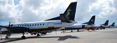 (English) The move is contemplated to be complete by March, 2014. (Espanol) Se contempla que el traslado finalizara ya para marzo del 2014.(PRNewsFoto/Seaborne Airlines) (PRNewsFoto/SEABORNE AIRLINES)