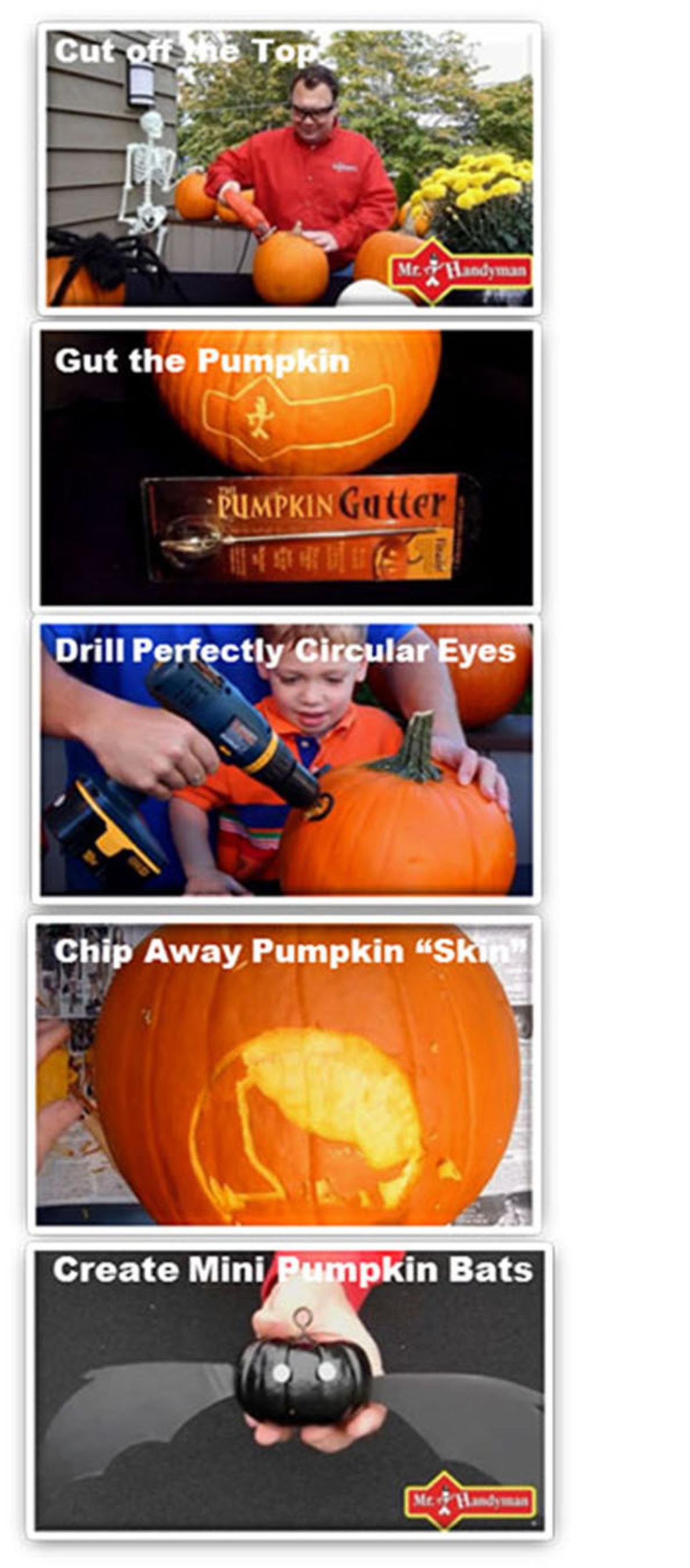Mr. Handyman Shares Tips for Pumpkin Carving with Power Tools.  (PRNewsFoto/Mr. Handyman)