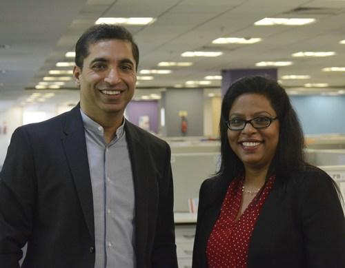 Photo (L to R): Nand Gangwani, CFO and COO Evalueserve, and Manu Dangi, Country Head, India and Head, Innovation Council, Evalueserve. (PRNewsFoto/Evalueserve)