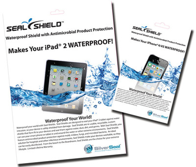 SEAL SHIELDS™ make iPhones and iPads waterproof