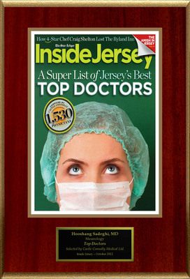 Dr. Hooshang Sadeghi selected for list of New Jersey Top Doctors.  (PRNewsFoto/American Registry)