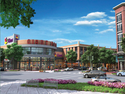 The Bozzuto Group, Giant Food of Landover, Md., and Southside Investment Partners will hold a groundbreaking event today at 11 a.m. EST to celebrate the start of Cathedral Commons, a mixed-use community that will include 137 apartments, eight townhomes, 128,000 square feet of retail, and more than 500 parking spaces, all centered around a state-of-the-art Giant Food, the grocery market-share leader across the Washington metropolitan region.  (PRNewsFoto/The Bozzuto Group)