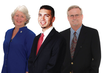 (Left to Right) Helen Simmons, Jonathan Groeger and Mark Spann are each named 2012 Employee of the Year by staffing firm Express Employment Professionals. (Manipulated Image).  (PRNewsFoto/Express Employment Professionals)