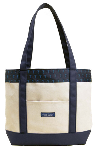 100% of the proceeds from sales of vineyard vines' canvas tote will go to Robin Hood to combat poverty in ...