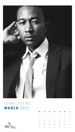 John Legend poses for the 2013 Hear the World Calendar to help raise awareness around the neglected issue of ...