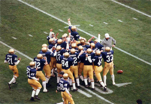 'Rudy' Ruettiger, as portrayed by Sean Astin in the Columbia TriStar film, RUDY. The story of the most famous underdog in the University of Notre Dame's history was made into a film by Columbia TriStar in 1993, and has become an inspirational film for millions.  (PRNewsFoto/Trusted Sports)