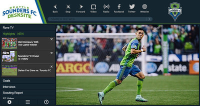 "Seattle Sounders FC launches new ""Big Screen"" video app with DeskSite, becoming the third MLS team to bring this premium HD video experience to fans."