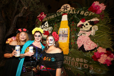 Estrella Jalisco celebrates Dia de los Muertos at Hollywood Forever Cemetery on Saturday, Oct. 29, 2016, in Los Angeles. (Casey Rodgers/AP Images for Estrella Jalisco)