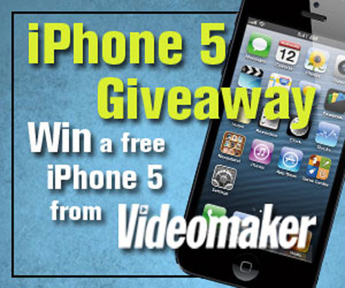 Win an iPhone 5 from Videomaker.  (PRNewsFoto/Videomaker)