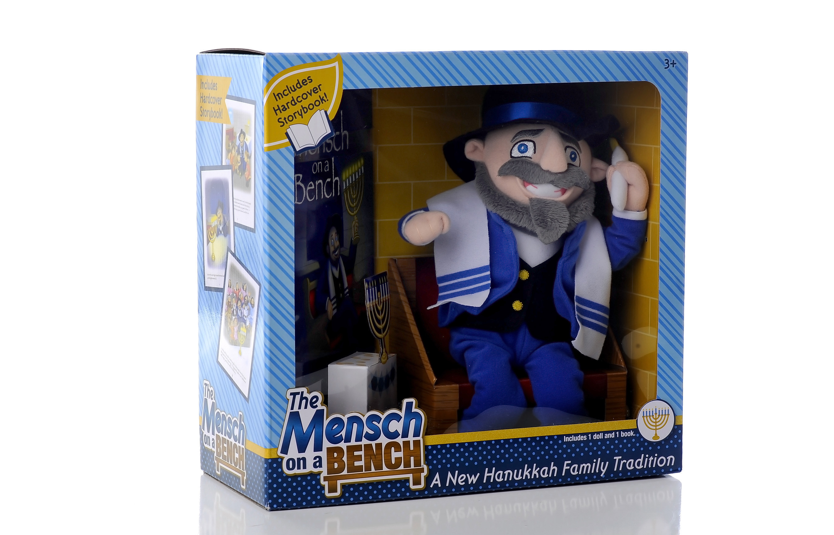"""Create a new Hanukkah family tradition with The Mensch on a Bench, the """"must-have"""" gift for Jewish and ..."""