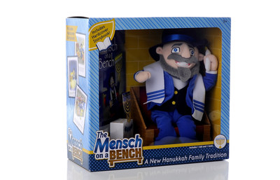 """Create a new Hanukkah family tradition with The Mensch on a Bench, the """"must-have"""" gift for Jewish and interfaith families this holiday season."""