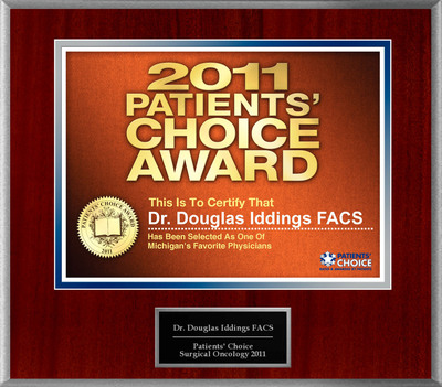 Dr. Douglas Iddings Selected For Patients' Choice Award 2011.  (PRNewsFoto/American Registry)