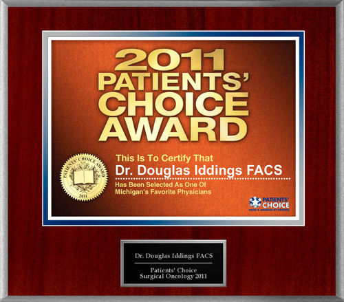 Dr. Douglas Iddings Selected For Patients' Choice Award 2011