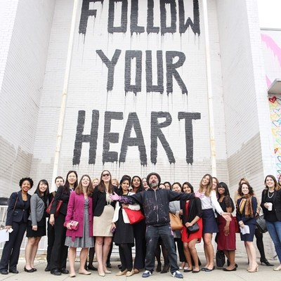 Union Market Celebrates International Women's Day with Michelle Obama and Street Artist Mr. Brainwash; Photo Credit: Gary Williams