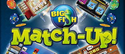 "Big Fish, the world's largest producer of casual games, today announced that ""Match-Up! by Big Fish"" is now available for free on the App Store for iPhone, iPad and iPod touch. ""Match-Up! by Big Fish"" is a real-time tournament game platform built for casual gaming on iPhone, iPad and iPod touch. The platform offers three types of popular skill-based games -- Word, Match 3, and Mahjong -- in which gamers can match-up against live opponents to win virtual currency, experience, status, and achievements."