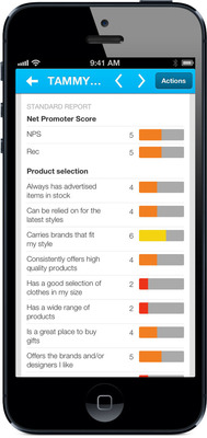 Screenshot of new Medallia Mobile 2 application for on-the-go employees to improve the customer experience. (PRNewsFoto/Medallia) (PRNewsFoto/MEDALLIA)