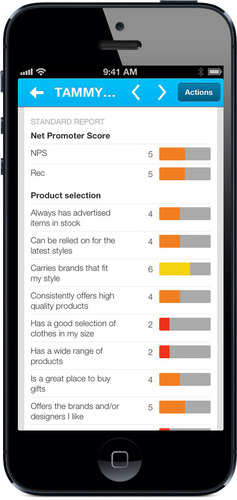 Screenshot of new Medallia Mobile 2 application for on-the-go employees to improve the customer experience. ...