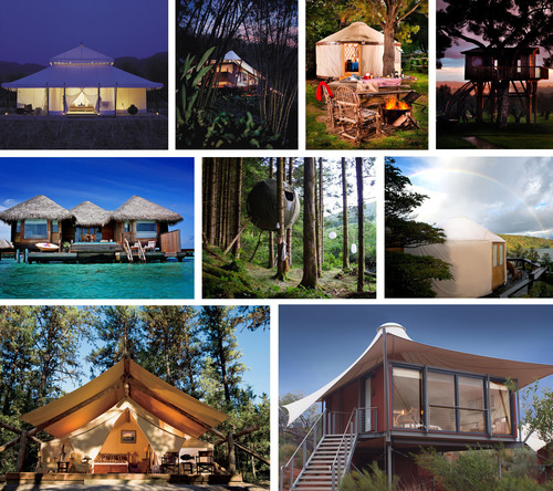 From safari-style tents and yurts to treehouses and over-water huts, Glamping.com introduces travelers to non-traditional luxury accommodations from around the world.  (PRNewsFoto/Glamping.com)