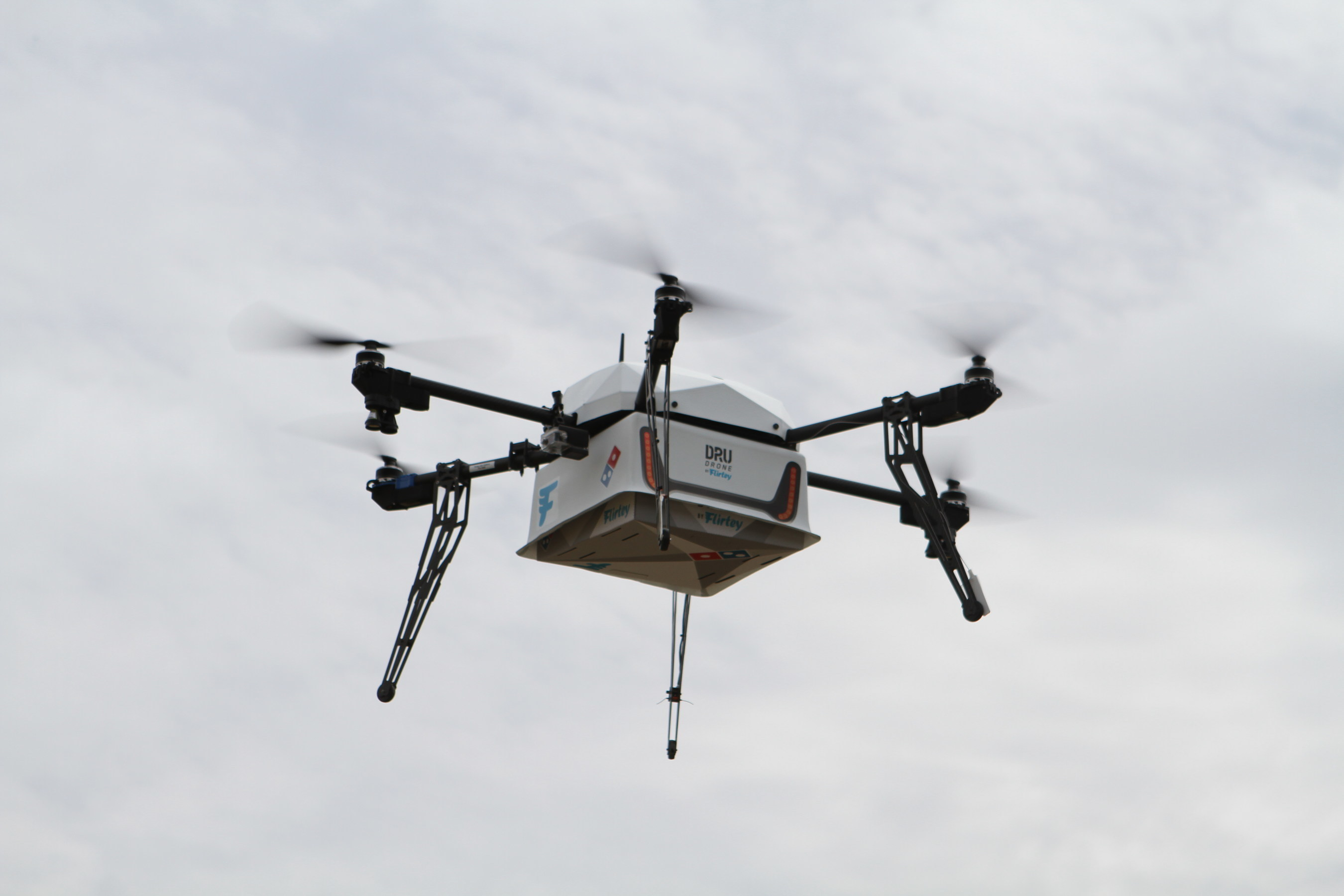 DRU Drone by Flirtey airborne