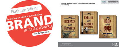 Kleber & Associates has won the Platinum award for Best Integrated Marketing Campaign: Residential Remodeling in Hanley Wood's Inaugural Brand Builder Awards. (PRNewsFoto/Kleber & Associates) (PRNewsFoto/KLEBER & ASSOCIATES)