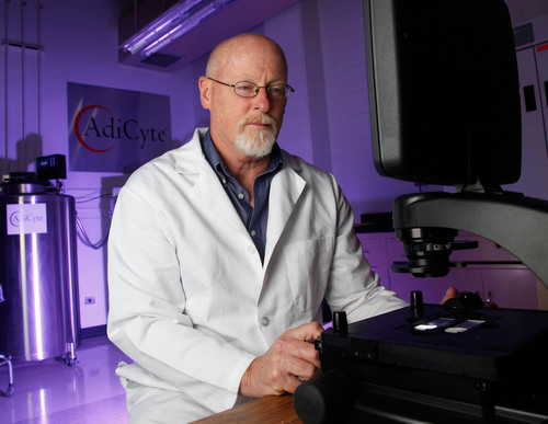 Dr. David Harris, Professor of Immunology at the University of Arizona in Tucson, assesses stem cells ready for  ...