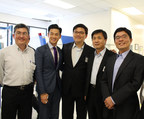 (From left to right) CEO of TIEC,Dr. Larry Wang; California State Assembly Member-Evan Low; Founding Partner of COINX-Dr. Eric Huang; Minister of Science and Technology-Dr. Jyuo-Min Shyu and Director of TECO, Dr. Ting-An Wang
