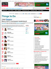 "Time Out New York's ""Best of NYC"" Foursquare leaderboard.  (PRNewsFoto/Time Out New York)"
