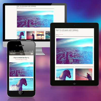 Image Zaps are automatically optimized for viewing on tablet, PC, Mac and mobile devices
